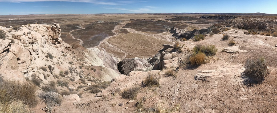 A Panorama of the Spectacular Painted Desert In Arizona