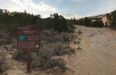 BLM Sign For The Moonshine Arch Recreation Area