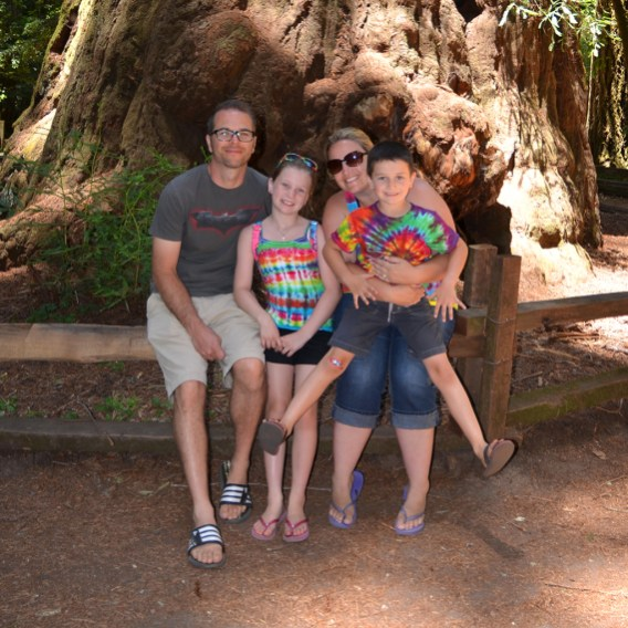 Bourn Family at The Giant in the Henry Cowell Redwoods State Park 2013