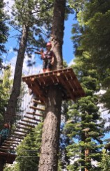 Ropes Course In Lake Tahoe With Ziplines And Fun Challenges