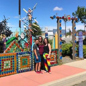 Carter, Natalie, and Jennifer Bourn Visiting Dick And Jane's Spot in Ellensburg, Washington