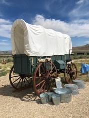 California Trail Covered Wagon Camp Exhibit