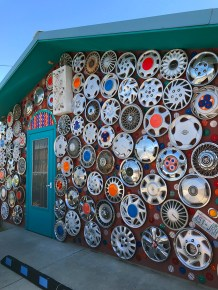 Hubcap Wall at Dick And Jane's Spot