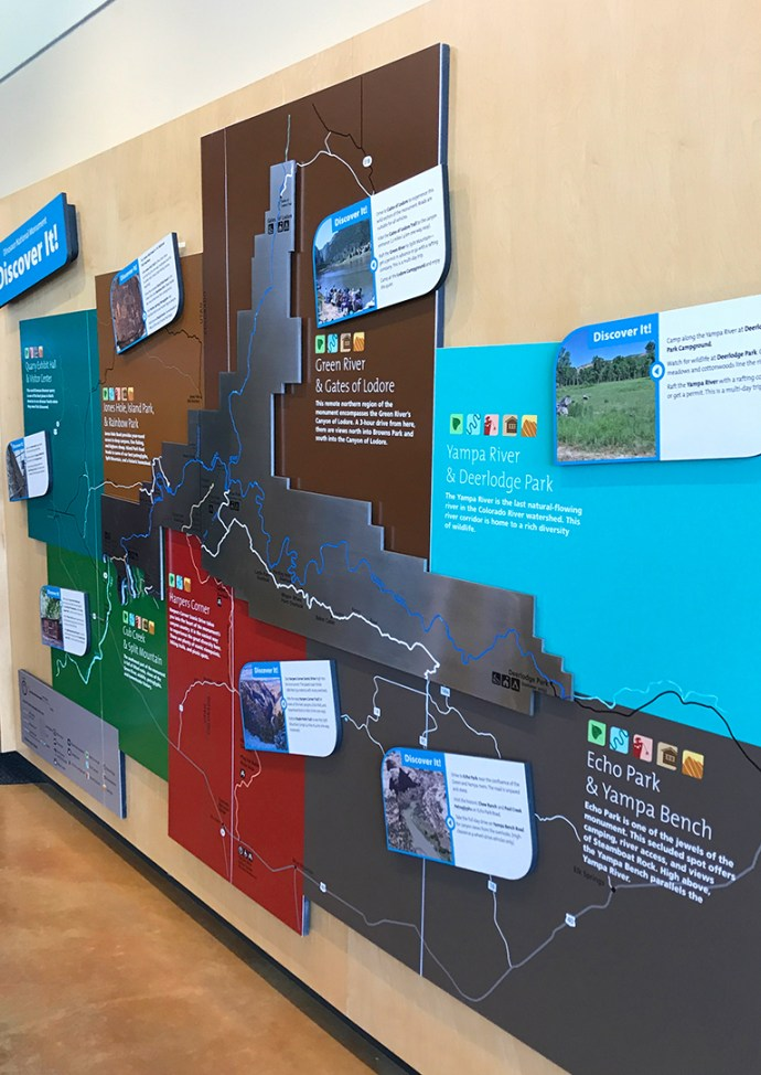 Maps and Displays at the Dinosaur National Monument Visitor Center