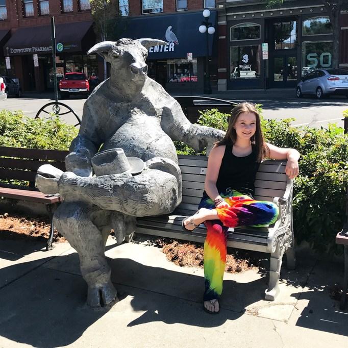 Natalie Bourn and the Ellensburg Bull