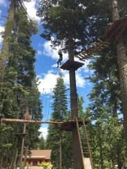 Natalie Bourn Ziplining in Lake Tahoe