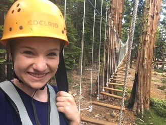 Natalie Bourn at the Tahoe City Ropes Course