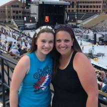 Natalie and Jennifer Bourn at Folsom Field