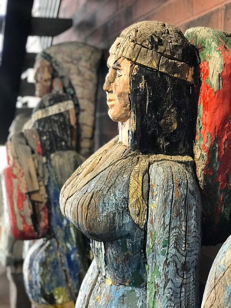 Old Wooden Statues