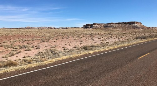 The Start Of Blue Mesa Road