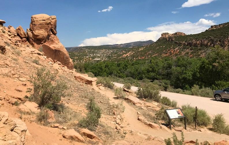 Trail to The Fremont Petroglyphs Off Cub Creek Road