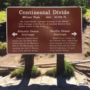 Continental Divide At Rocky Mountain National Park