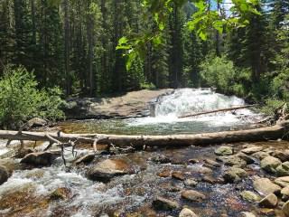 Copeland Falls Waterfall in Rockky Mountain National Park