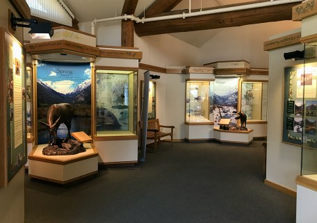 Fall River Visitor Center Museum Exhibits and Displays