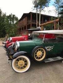 Old Cars On Display At The Grand Lake Lodge