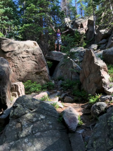 Carter Bourn Hiking to Alberta Falls in Rocky Mountain National Park