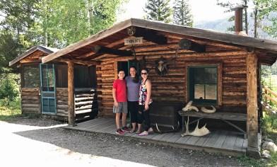 Jennifer, Natalie, and Carter Bourn at Holzwarth Trout Lodge