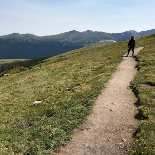 Natalie Bourn Hiking The Medicine Bow Curve Trail