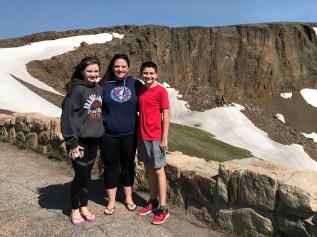 Natalie, Jennifer, and Carter Bourn at Lava Cliffs Scenic Overlook