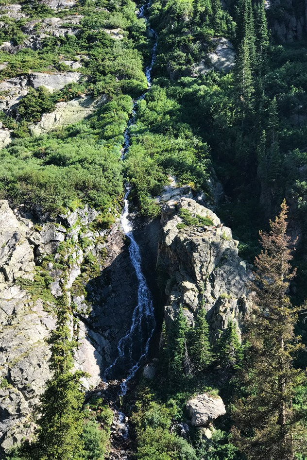 Snow Melt Waterfall In Rocky Mountain National Park