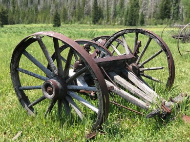 Old Ranching Equipment along the Holzwarth Historic Site trail