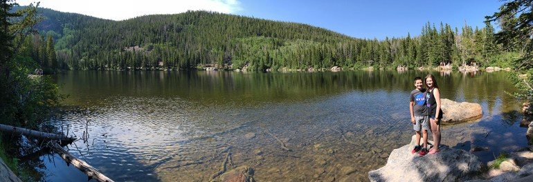 Panorama at Bear Lake at Rocky Mountain National Park