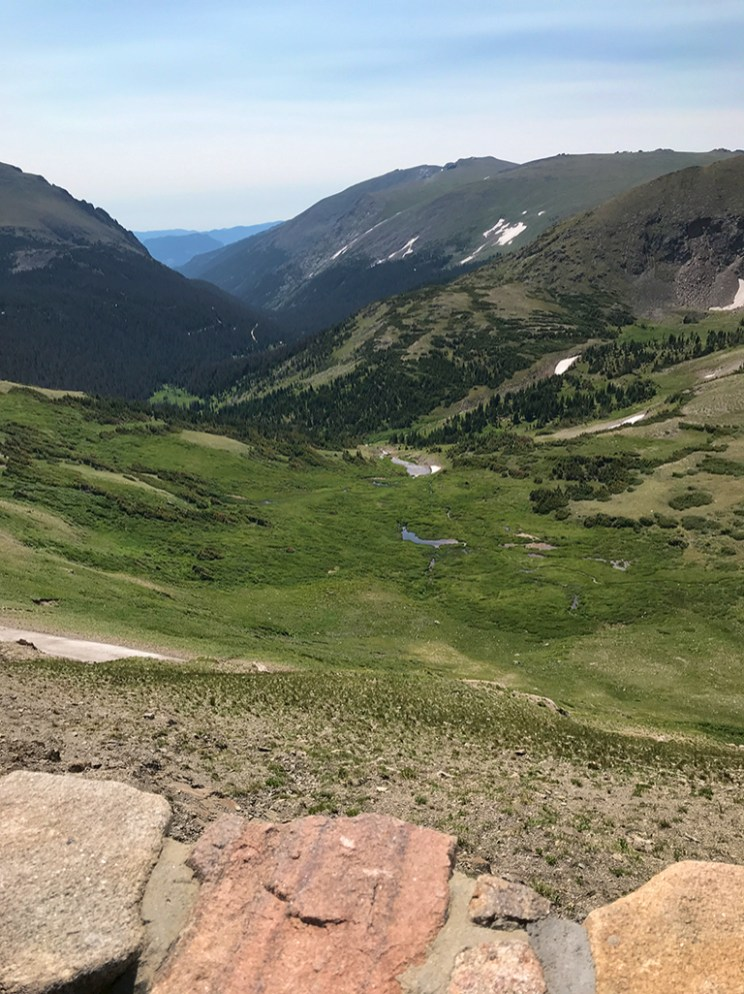 Stunning View From The Alpine Visitor Center on Trail Ridge Road in Rocky Mountain National Park