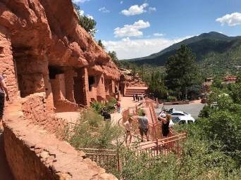 Anasazi Cliff Dwellings in Manitou Springs-colorado
