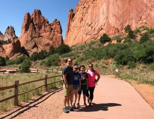 Bourn Family Hiking At Garden Of The Gods