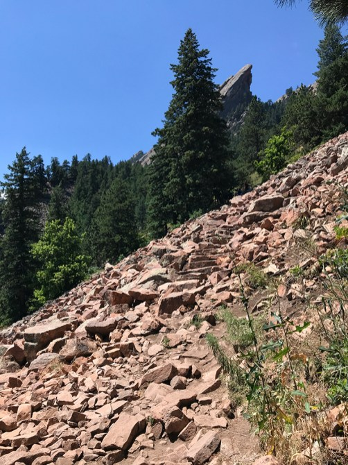 Flatirons Loop Trail Rock Stairs