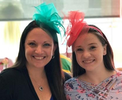 Jennifer and Natalie Bourn in Tea Hats
