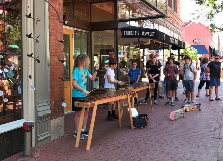 Kids Performing at Pearl Street Mall in Boulder