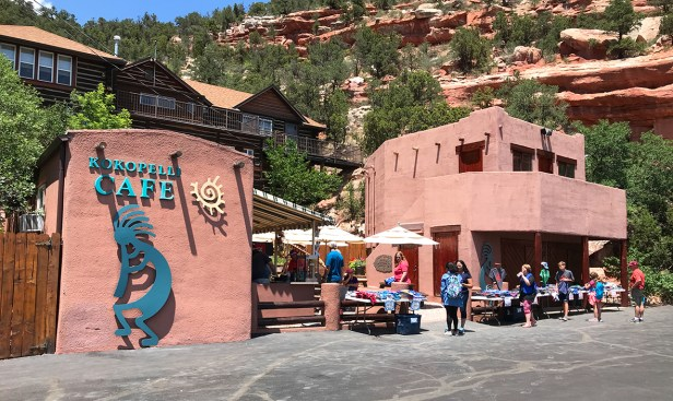 Kokopelli Cafe at the Manitou Cliff Dwellings