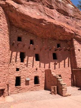 Manitou Cliff Dwellings With Windows, Ladders, and Almost No Doors