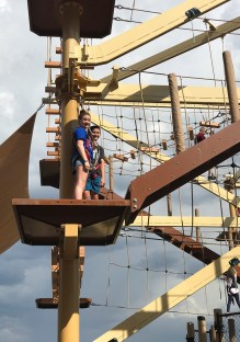 Natalie and Carter Bourn Doing a Ropes Course In Colorado