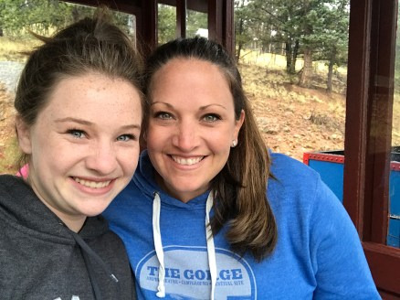Natalie and Jennifer Bourn on the Cripple Creek and Vcitor Railroad