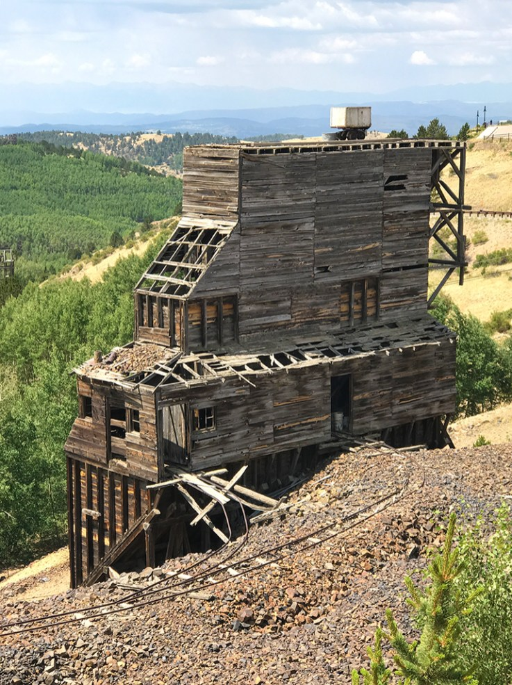 Old Headframe At The Mollie Kathleen Gold Mine