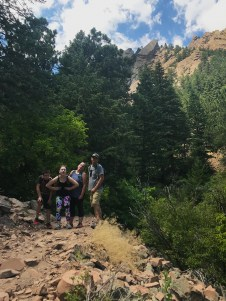 Tired Bourn Family Hiking The Flatirons Loop Trail