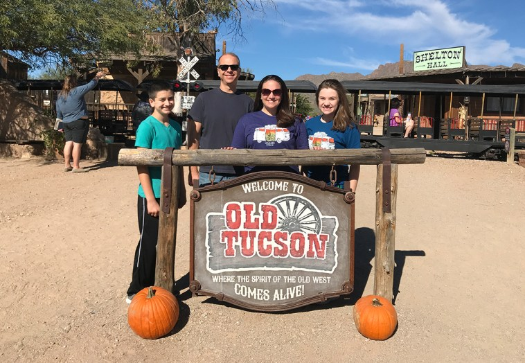 The Bourn Family at Old Tucson Studios