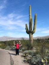 Natalie and Carter Bourn Posing Like a Saguaro Cactus
