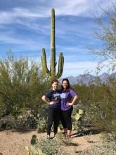 Natalie and Jennifer Bourn at Saguaro National Park
