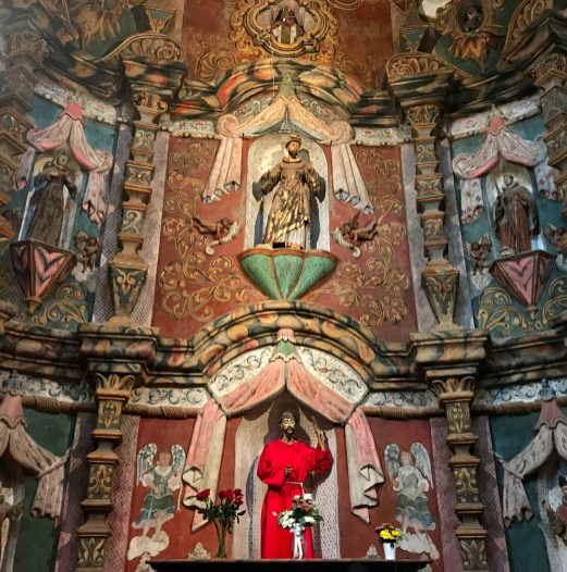 Statuary, Sculpture, and Murals in the church at San Xavier Mission