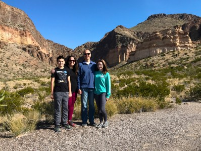Bourn Family at the Lower Burro Mesa Pour-Off Trail