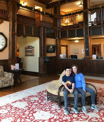 Carter and Natalie Bourn in the Badlands Hotel Lobby