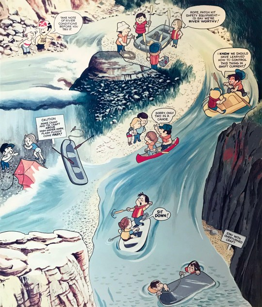 Cartoon Exhibit on Rafting the Rio Grande