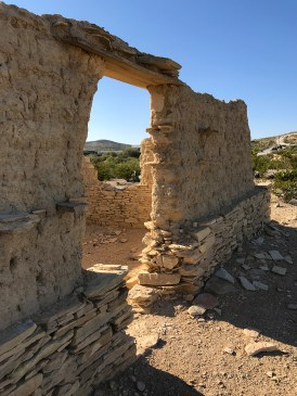 Crumbling Adobe Building in Terlingua, Texas