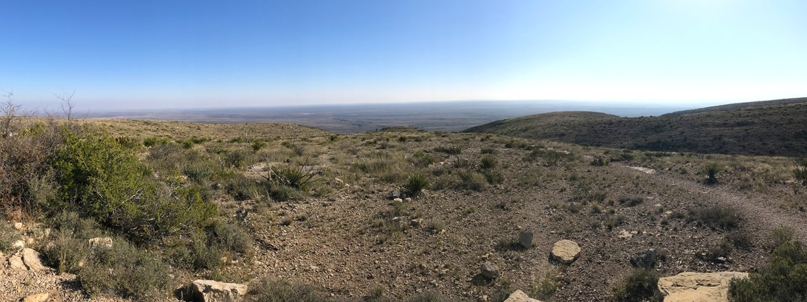 Desert View From Carlsbad Caverns Parking Lot