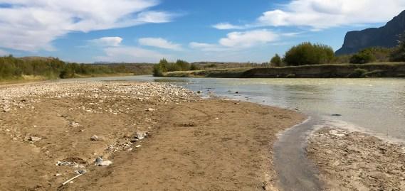 The Rio Grande River at Santa Elena Canyon in Big Bend National Park