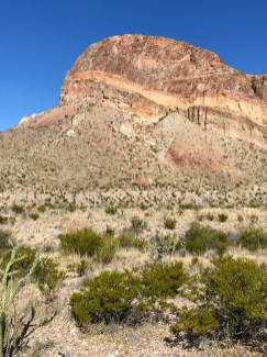 Striated Rock Cliffs in Big Bend National Park
