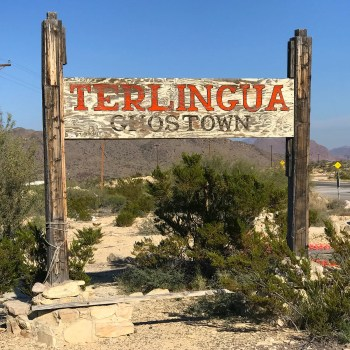 Terlingua Ghost Town Wooden Sign